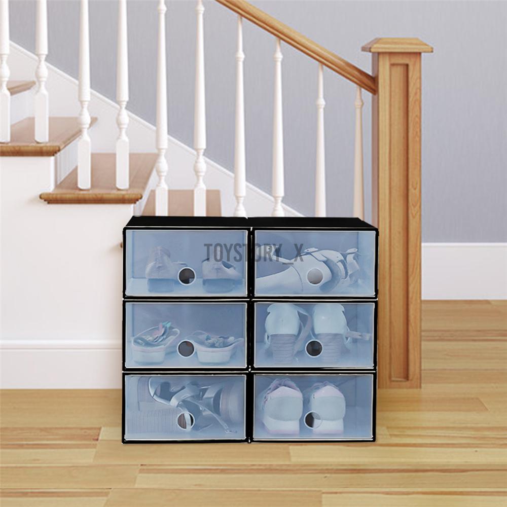 Bộ 6 Hộp Nhựa Đựng Giày Tiện Lợi