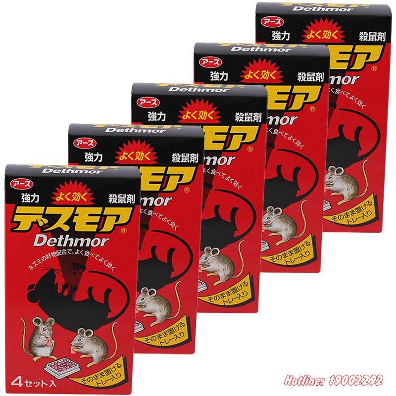 Combo 5 hộp thuốc diệt chuột nội địa Nhật Bản