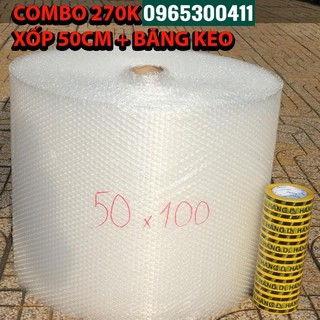 COMBO 1 cuộn xốp hơi 50cm + 1 cây BK HÀNG DỄ VỠ