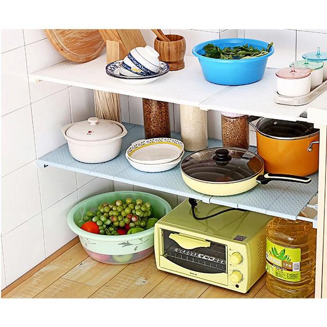 (Dài từ 75-120cm) Thanh chia ngăn tủ không cần khoan vít chịu được 15kg (HSN)