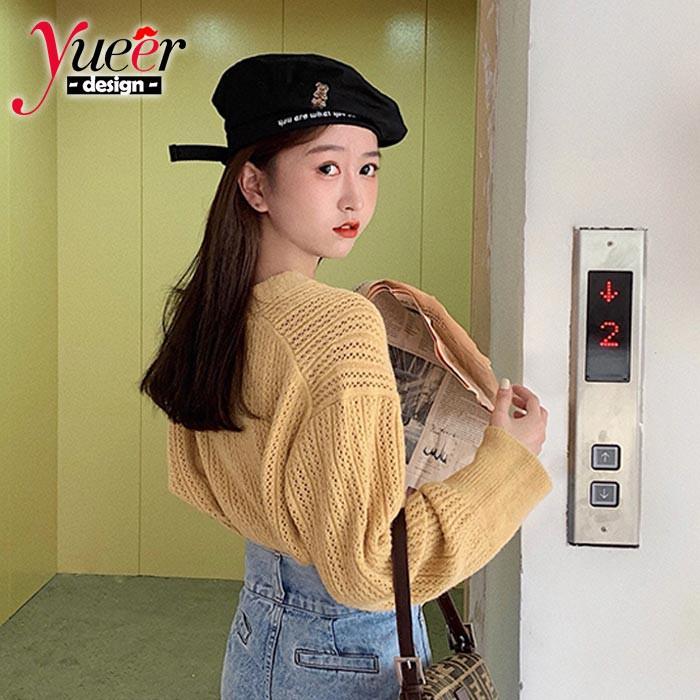 Áo nữ tay dài cổ chữ v dệt kim phong cách Hàn Quốc - 15022697 , 2708201461 , 322_2708201461 , 289600 , Ao-nu-tay-dai-co-chu-v-det-kim-phong-cach-Han-Quoc-322_2708201461 , shopee.vn , Áo nữ tay dài cổ chữ v dệt kim phong cách Hàn Quốc