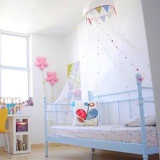 Mùng Ikea treo nôi/ cũi cho bé màu trắng trang trí cực xinh – Loại 1, Dài 2.4 m