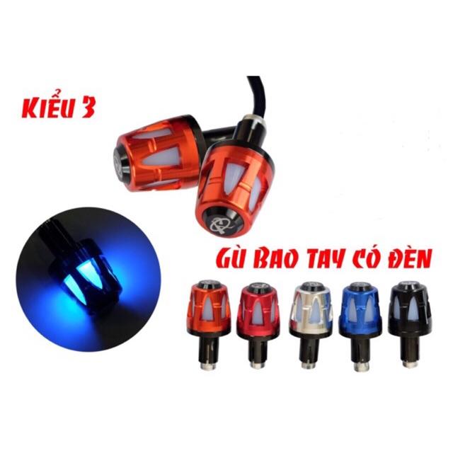 Gù tay lái nhôm kết hợp đèn led siêu rẻ