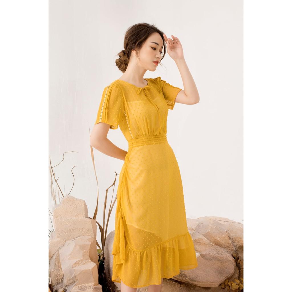 [Mã WAGREEN35 giảm 35k đơn 300k] DIDO - Váy Đuôi Cá Xếp Ly Nữ