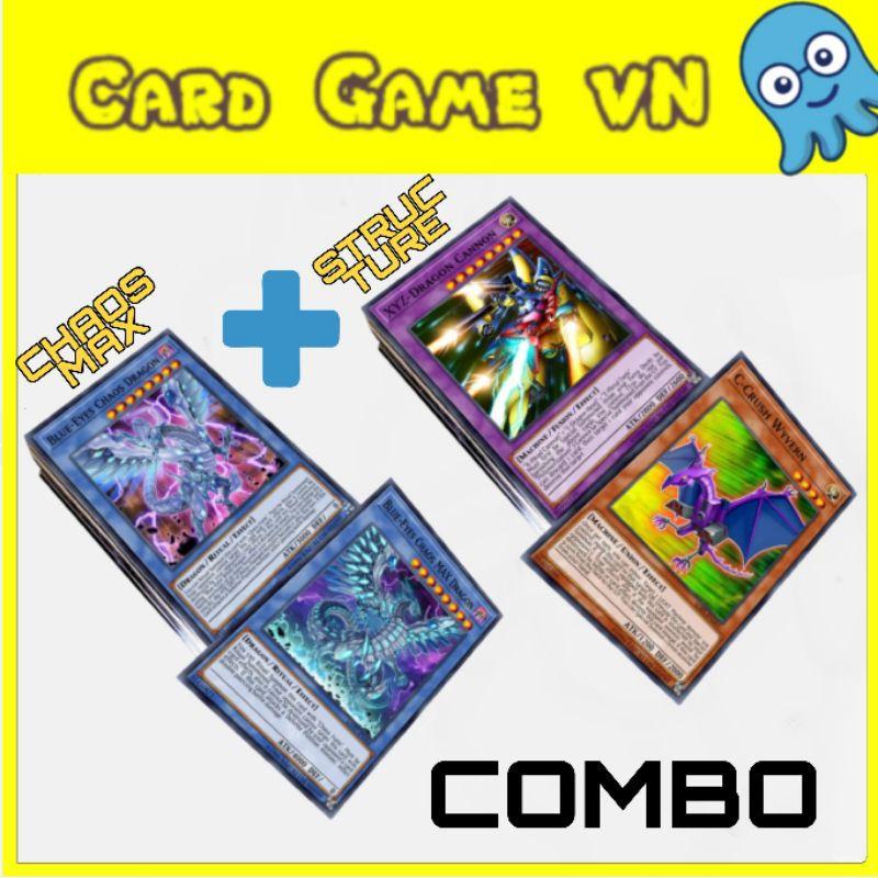 [BÀI IN] Bài YuGiOh – Bộ 108 lá bài Blue Eyes Chaos Max + Blue Eyes White Dragon của Kaiba Seto – Card Game VN