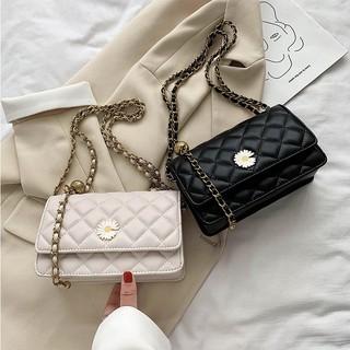 Túi xách nữ đẹp 🔥 FREESHIP 🔥(Siêu sale) Túi xách nữ dáng hộp họa tiết hoa cúc phong cách trẻ trung
