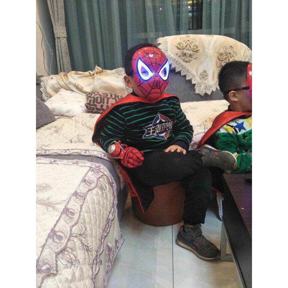 Bộ Áo choàng người nhện và mặt nạ có đèn nhạc cho bé