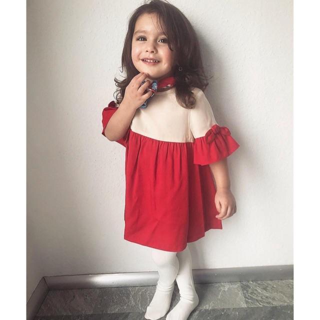 Váy Bé Gái Phối Vải Tay Nơ Nude/Red Zara - 3294021 , 1132425453 , 322_1132425453 , 195000 , Vay-Be-Gai-Phoi-Vai-Tay-No-Nude-Red-Zara-322_1132425453 , shopee.vn , Váy Bé Gái Phối Vải Tay Nơ Nude/Red Zara