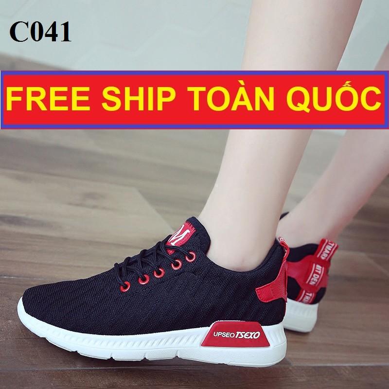 Xả Kho Giày Thể Thao Nữ, Giày Vải Sneakers, Free Ship Toàn