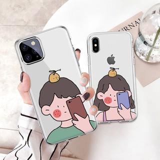 HÀNG ĐẸP 🌟2️⃣0️⃣2️⃣1️⃣🌟 Ốp đôi trong suốt in hình cậu bé cô bé cho iphone xs max xr 8/7/6 plus 11 pro – A773