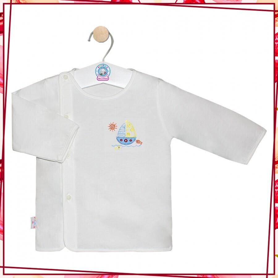 [Sốc Cực Sốc]Phân phối sản phẩm áo tay dài nút dán Hello b&b(Cho bé từ 3-5 kg