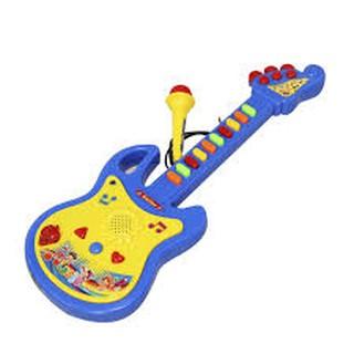(Freeship) Đồ chơi đàn guitar có micro cho bé tập làm ca sĩ (kèm pin)