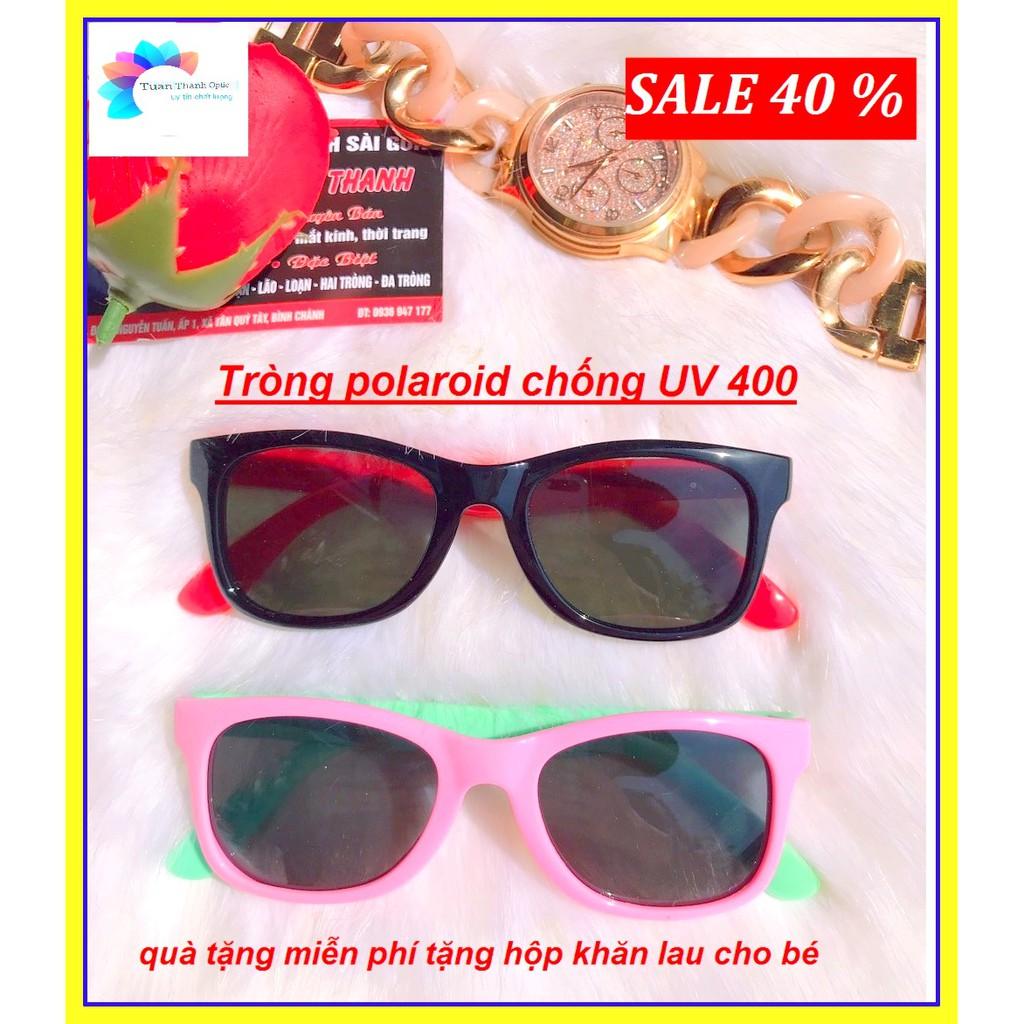 MẮT KÍNH TRẺ EM SIEU DẺO SIÊU BỀN BẺ KO GÃY S525C5 tròng Polaroid chống UV 400 TẶNG hộp và...