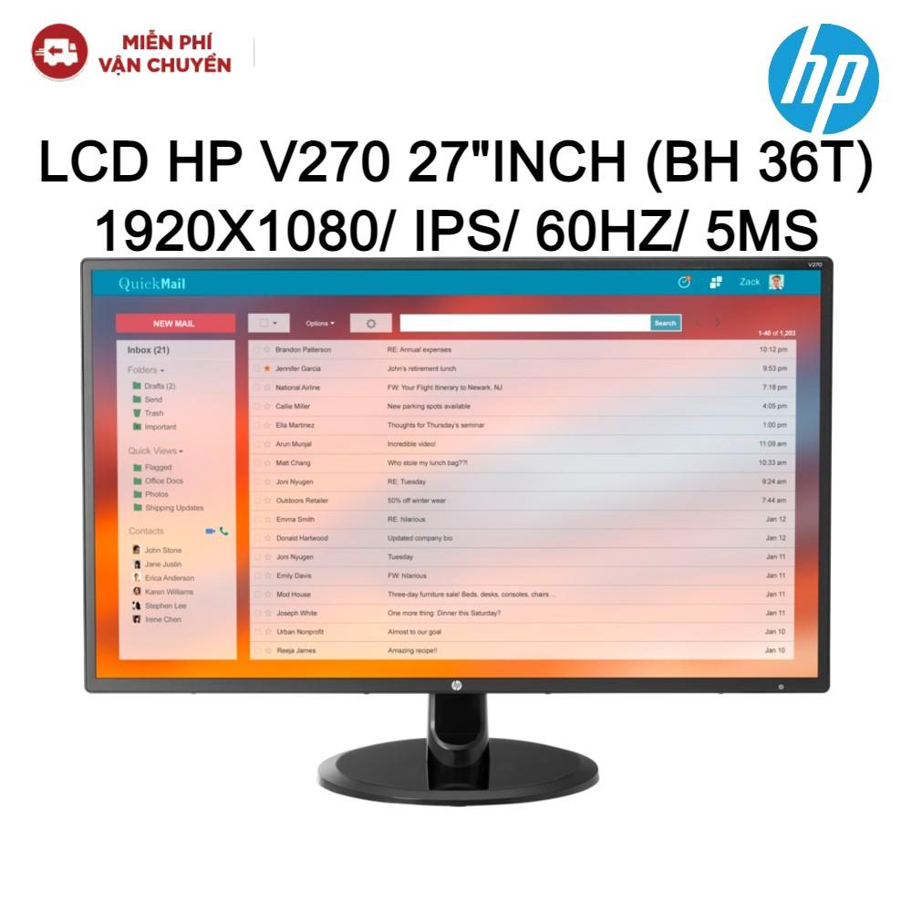 """[Mã ELMALL7 giảm 7% đơn 499K] Màn hình LCD HP V270 27""""Inch 1920x1080/IPS/60Hz/5ms new 100%"""