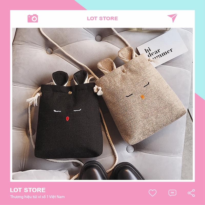Túi tote vải đeo chéo canvas bag giá rẻ đẹp đi học ULZZANG PT3