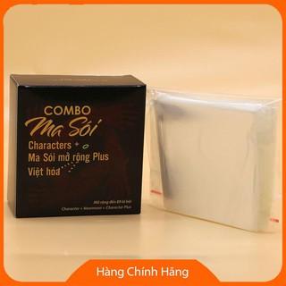 Combo Ma Sói Characters Việt Hóa + Mở rộng Plus + Bọc Bài (3 trong 2)