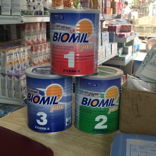 Sữa Biomil plus số 1,2,3 (400g)