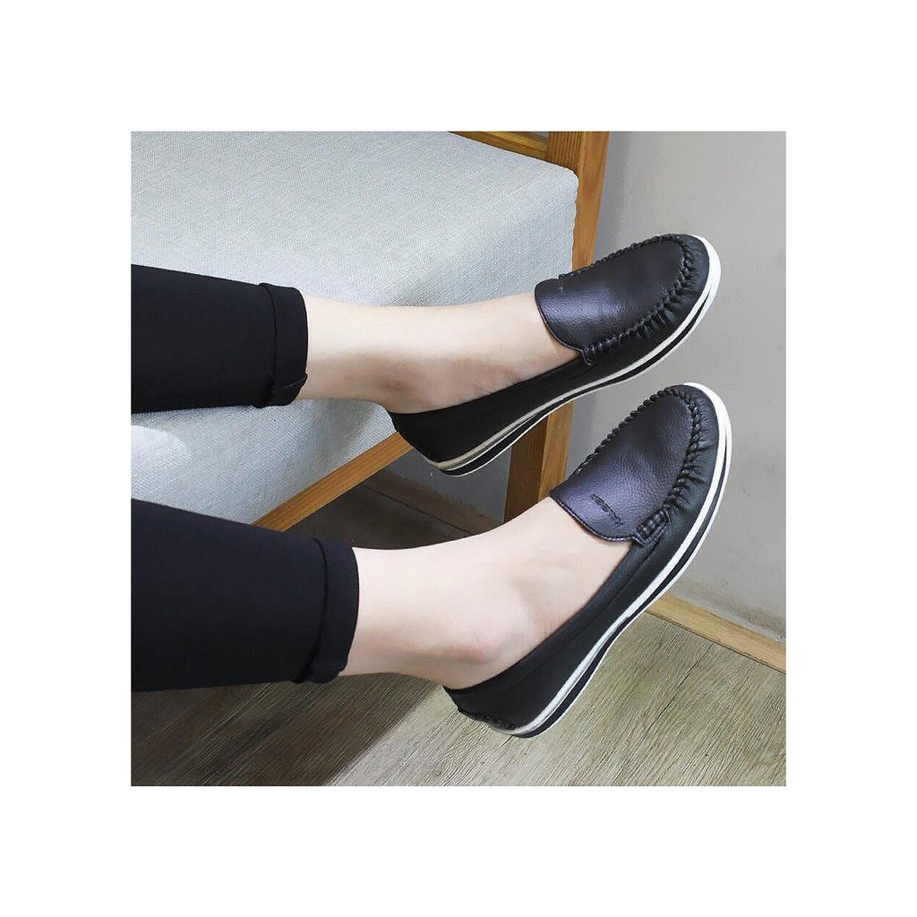 Giày bệt Kaleea da bò nữ siêu êm chân