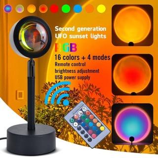 Đèn Hoàng hôn Sunset Lamp 4 màu 16 màu hiệu ứng ánh sáng đẹp có remote điều khiển màu thích hợp chụp ảnh sống ảo Tiktok thumbnail
