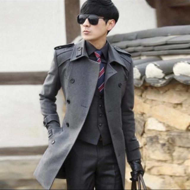 Áo khoác dạ măng tô nam lông cừu cao cấp nhập khẩu tại Hà Nội