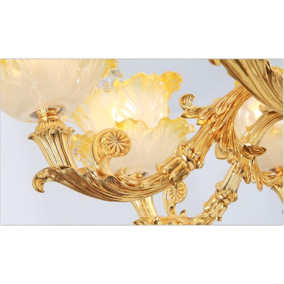 Đèn chùm MONSKY ALISTAR phong cách Châu Âu hiện đại cao cấp loại 15 tay đẹp long lanh - Tặng kèm bóng Led cao cấp