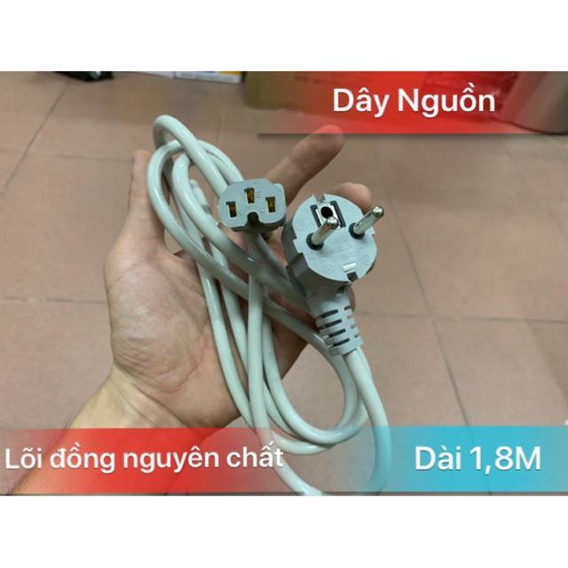 Dây nguồn máy tinh 1,8m trắng xịn 220v- Chạy được cho cả nồi cơm điện,Bình Nước ( giá rẻ ) Giá chỉ 14.000₫