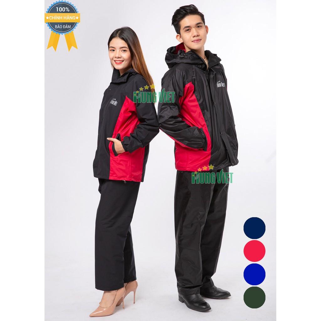Bộ quần áo mưa 2 lớp PU cao cấp xuất khẩu Hưng Việt