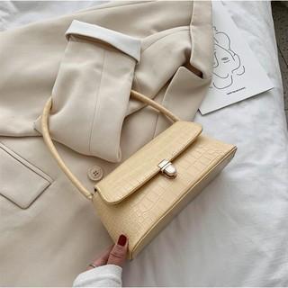 Túi xách nữ  Túi kẹp nách da rắn hình thoi dáng Hàn quốc hot hit (da rắn cả nắp và thân túi)