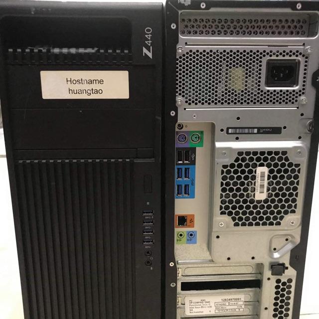 máy workstation hp z440 sk2011, 2678v3 xeon