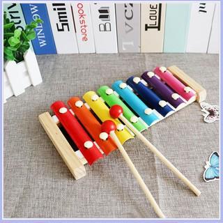 [TSM] Combo 3 món: 1 Đàn gỗ Xylophone 8 thanh ( Thường); 1 Sâu gỗ uốn dẻo; 1 Tháp xếp cầu vồng