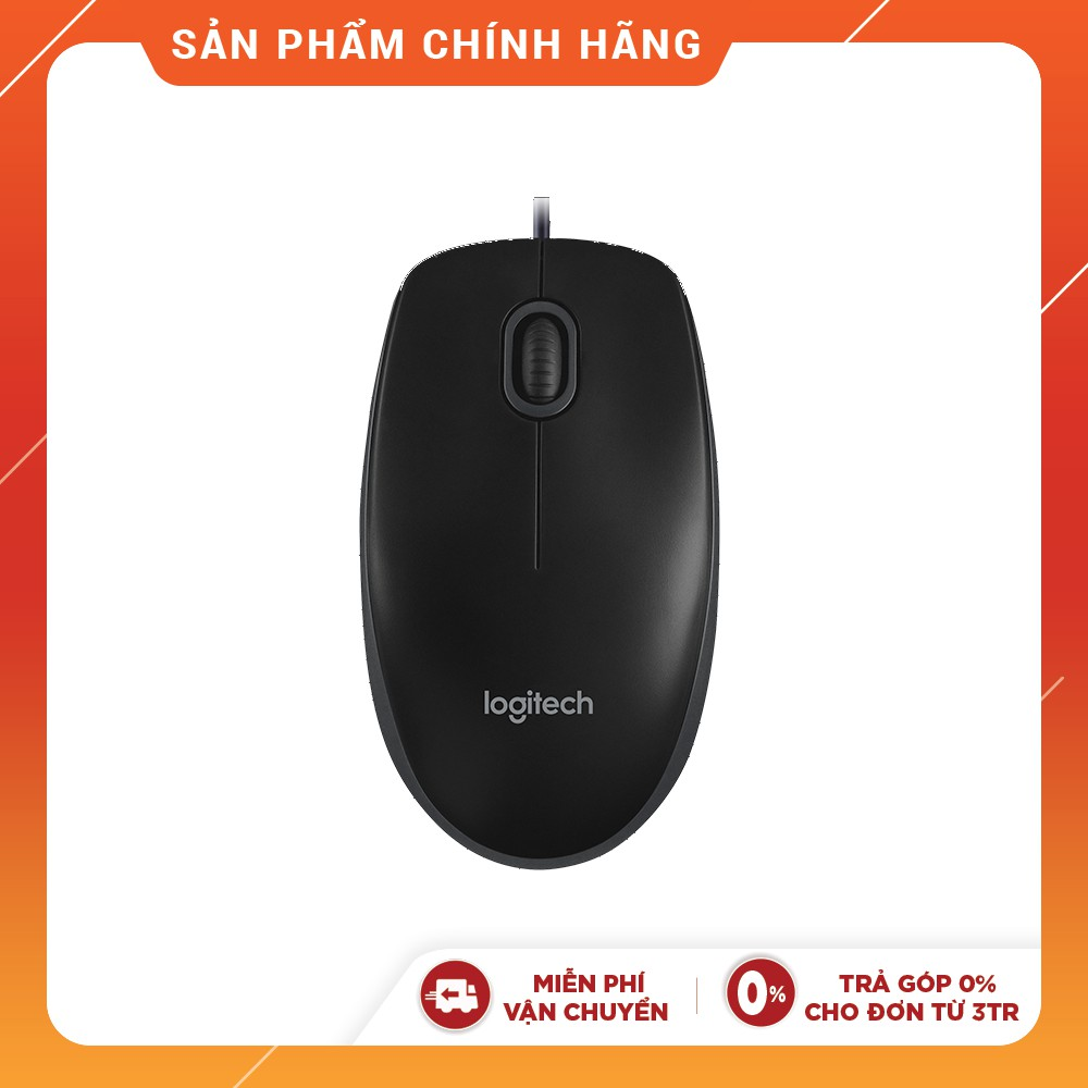 Chuột máy tính Logitech B100 Đen - Chính hãng New 100%