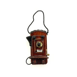 1:12 Miniature wall-mounted telephone dollhouse diy doll house decor accessories