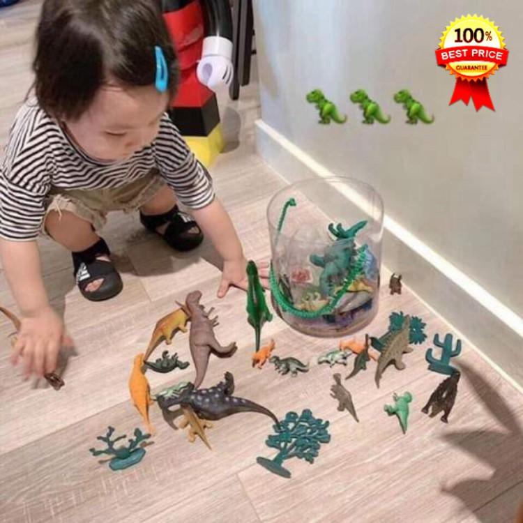 [Uy tín – Hàng Loại 1] Bộ khủng long cho bé, bộ sưu tập mô hình khủng long thời tiền sử chất liệu nhựa an toàn