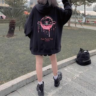 Áo Khoác Thun nỉ PE hình trái đất tan chảy Áo khoác hoodie unisex form 70kg hàng siêu mịn thumbnail