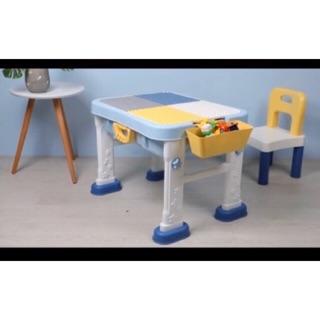 Bộ bàn lego Đa Năng ( tặng kèm lego) 1 mặt lego 1 mặt phẳng 1 ghế
