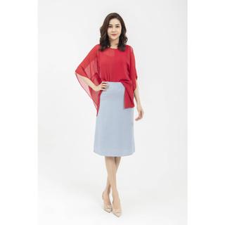 Chân váy xanh dáng dài thiết kế Elise thumbnail