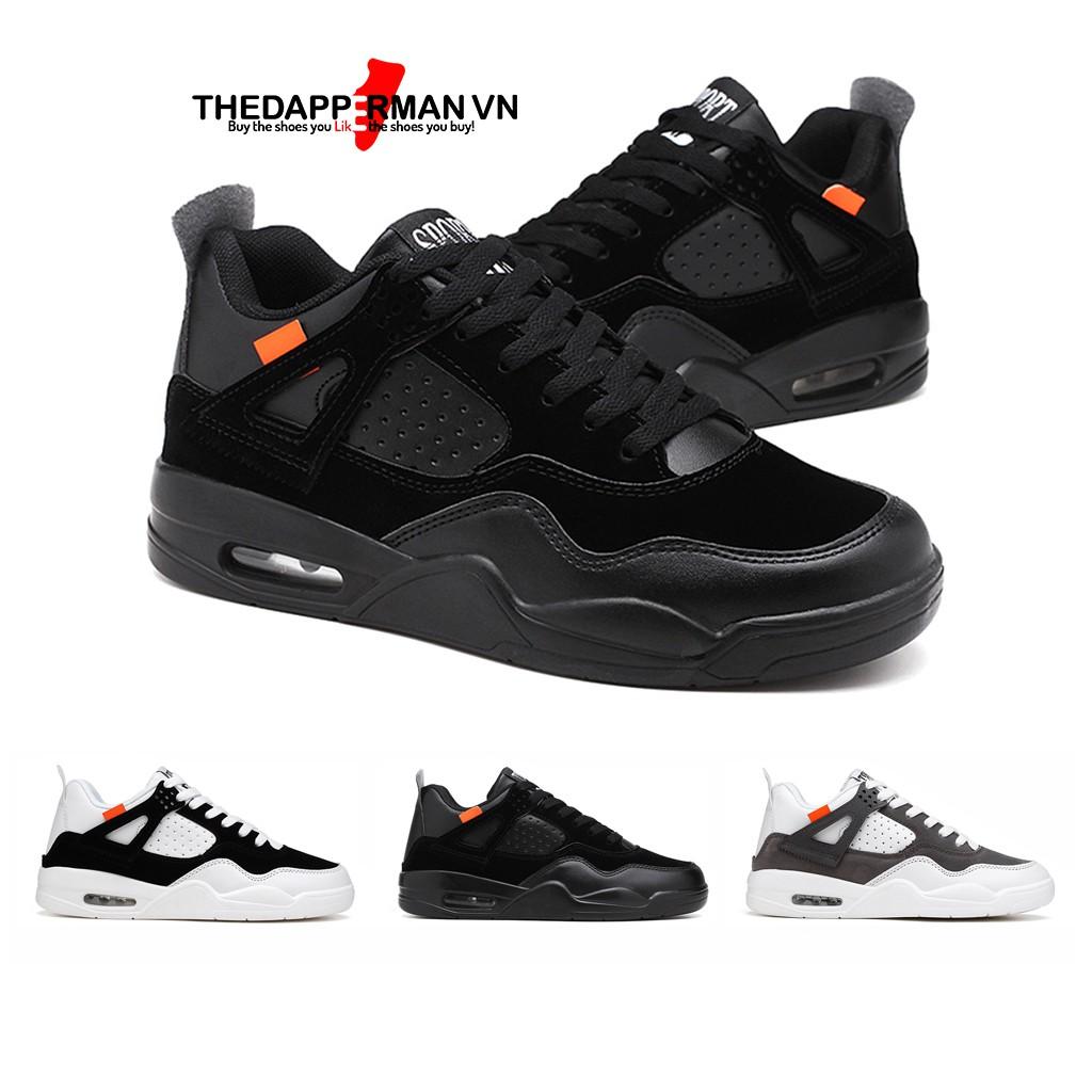 Giày thể thao sneaker nam THEDAPPERMAN TDM194 chất liệu da lộn, đế air cao su nhiệt dẻo, siêu êm, siêu bền, màu đen