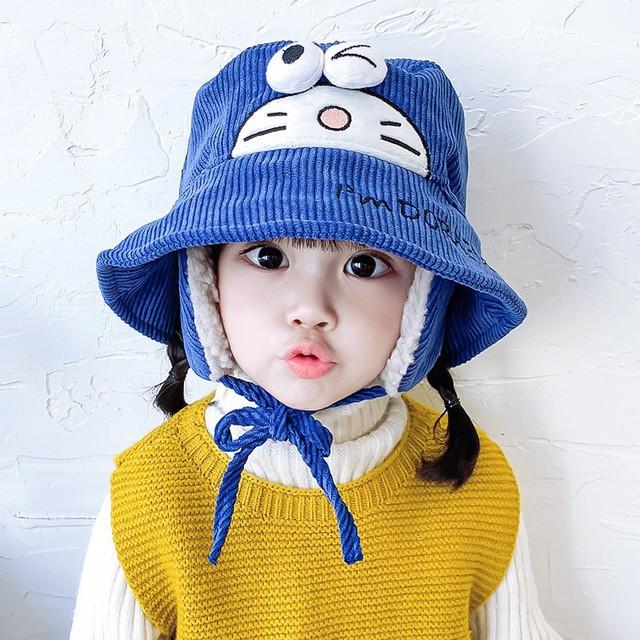 Mũ len nhung che tai cho bé 3 TUỔI - 5 TUỔI-M55