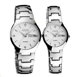 Đồng hồ nữ nam Nary 2 lịch chống nước dây thép không rỉ SP751 (Nhiều màu) thumbnail