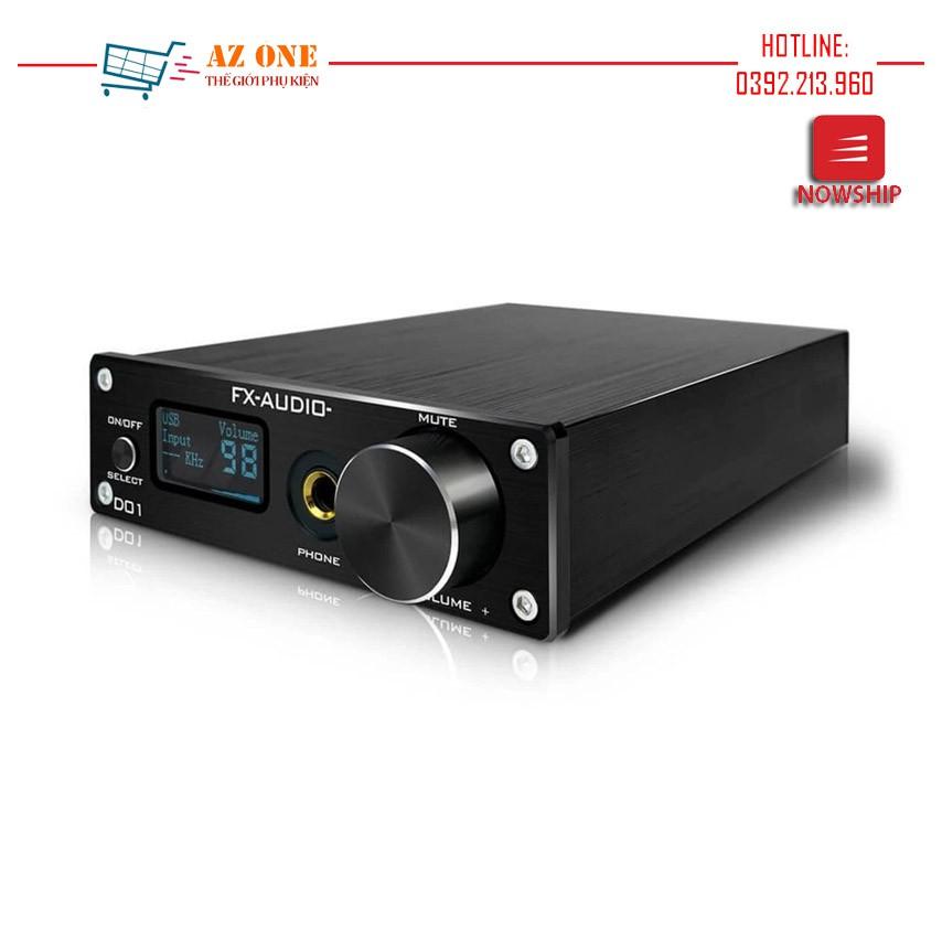 Bộ Giải Mã DAC FX Audio D01 32bit Bluetooth Bản Nâng Cấp Hoàn Hảo Của X7 - Hàng Chính Hãng