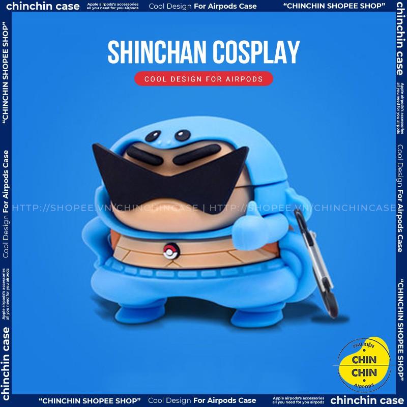 Case Vỏ Bao Airpods Đựng Tai Nghe Airpod 1 2 Pro Cu Shin Ninja Rùa Bằng Silicon Dẻo Siêu Ngầu Và Cute - Chinchin Case