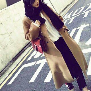 [MUA 1 TẶNG 1] Pass áo dạ dáng dài size XL new