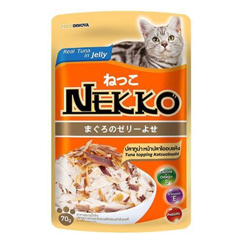 Pate Nekko cho mèo vị cá ngừ và cá khô - dạng thạch ( 70g ) - 3409888 , 1029086000 , 322_1029086000 , 19000 , Pate-Nekko-cho-meo-vi-ca-ngu-va-ca-kho-dang-thach-70g--322_1029086000 , shopee.vn , Pate Nekko cho mèo vị cá ngừ và cá khô - dạng thạch ( 70g )