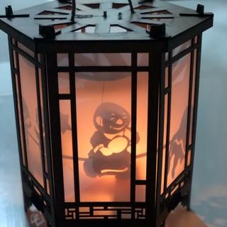 Lồng đèn kéo quân gỗ sài nến
