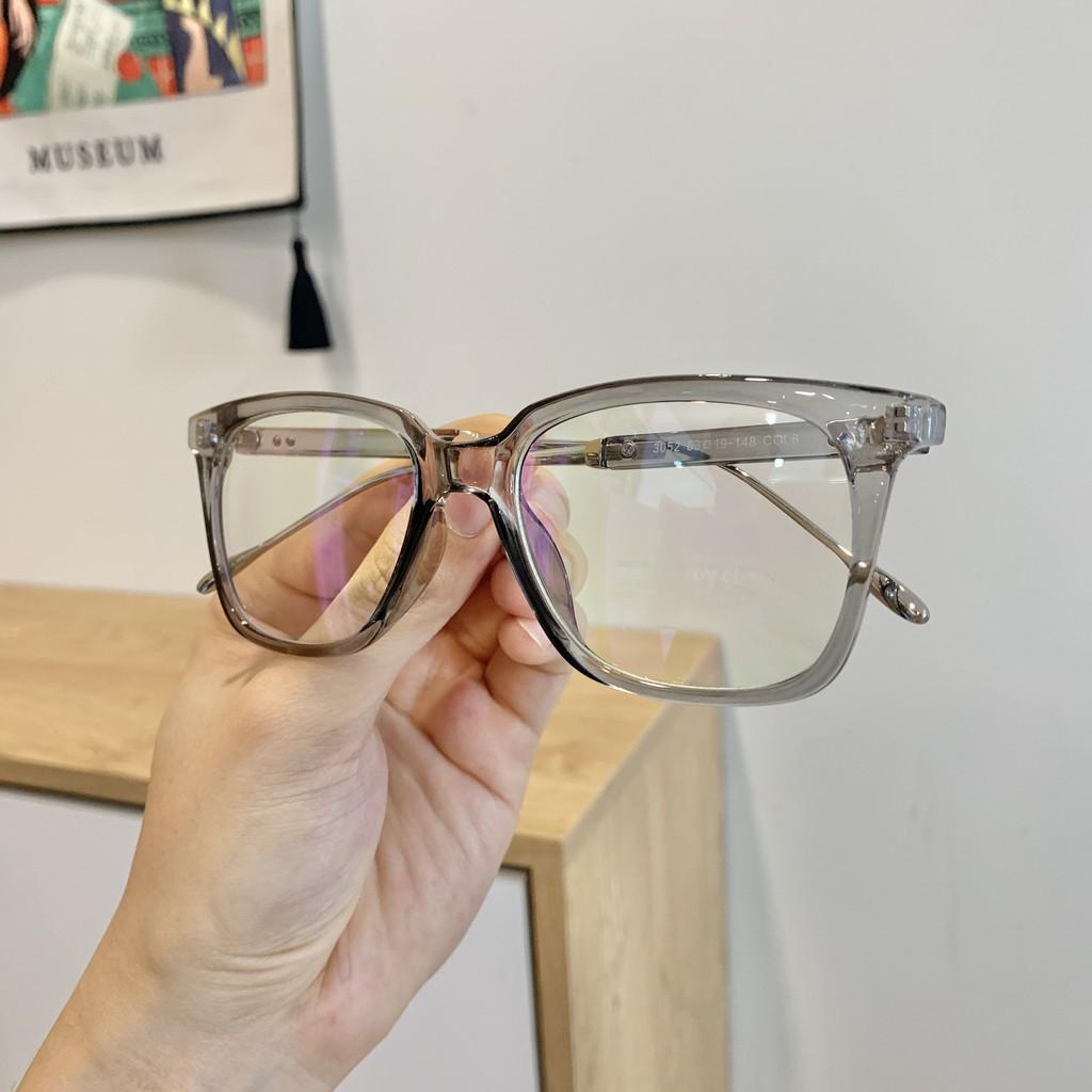 Gọng kính cận vuông M02 màu xám khói - Gọng kính mắt nhựa bền cực thời trang