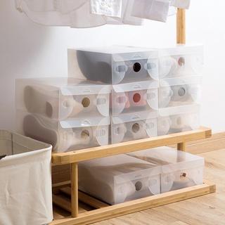 Set 10 hộp nhựa trong suốt đựng giày tiện dụng - hình 1