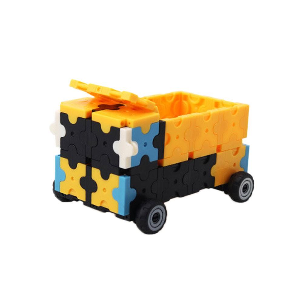 DIY Toy Assembling Car Premium Plastic Yellow Vehicle