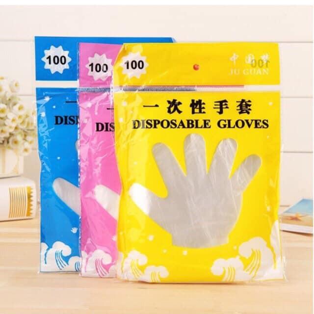 Set 100 chiếc găng tay nilong dùng 1 lần