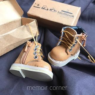 Giày boot da 4cm cho Doll