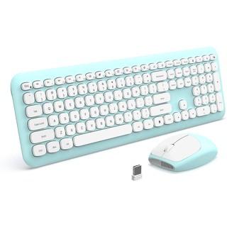 Bộ chuột bàn phím không dây Jelly Comb (Mint green)